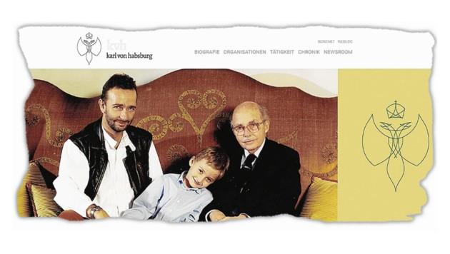 Die Homepage von Karl Habsburg ist Stein des Anstoßes.