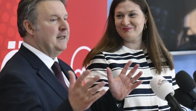 Wiens Bürgermeister Michael Ludwig und die Wiener SPÖ-Landesparteisekretärin Barbara Novak