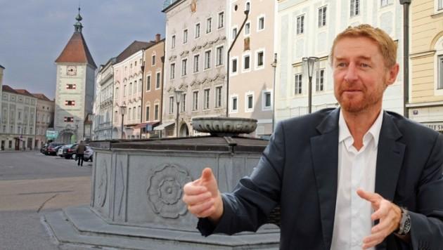 Vizebürgermeister Gerhard Kroiß will das in Wels herrschende Sprachproblem anpacken. (Bild: Markus Wenzel)