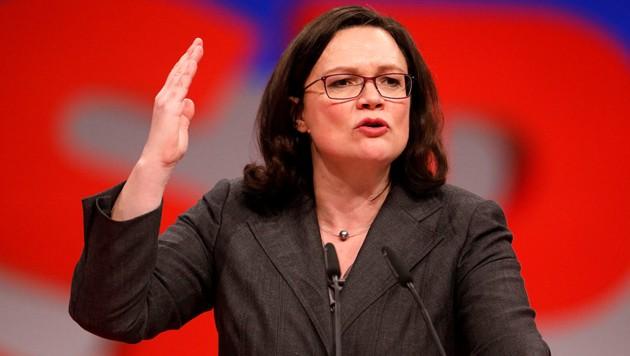 SPD-Chefin Andrea Nahles (Bild: AFP )