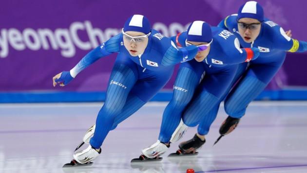 Noh Seon Yeong, Kim Bo Reum und Park Ji Woo (von links)