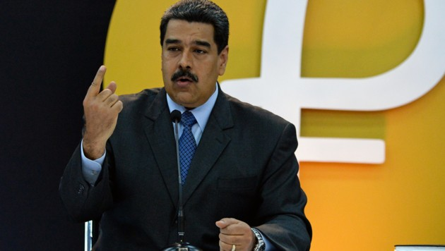 "Präsident Nicolas Maduro vergleicht die Kryptowährung ""Petro"" mit Superman. (Bild: AFP)"