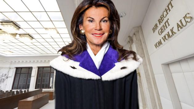 Die Präsidentin des Verfassungsgerichtshofs, Brigitte Bierlein (Bild: APA/VFGH/BIENIEK,APA/HANS KLAUS TECHT, krone.at-Grafik)