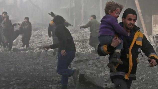 Die schrecklichen Folgen des Bombardements von Ost-Ghouta