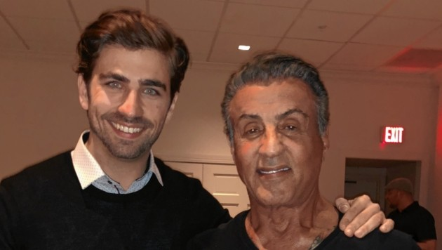 Sven Temmel mit Silvester Stallone