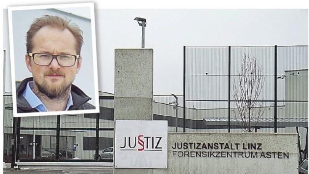 Dr. Martin Kitzberger (o.) leitet die Sonder-Justizanstalt Asten (Bild: Markus Schütz)