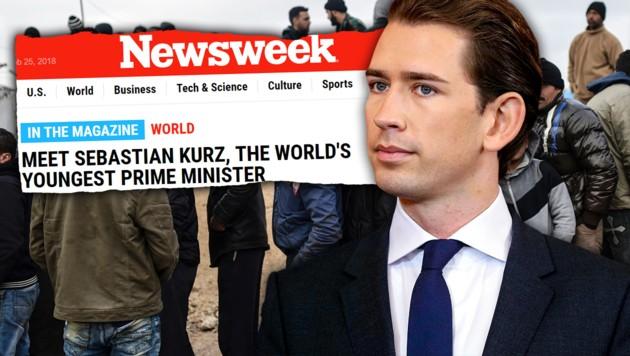 (Bild: newsweek.com, AFP, AP, krone.at-Grafik)