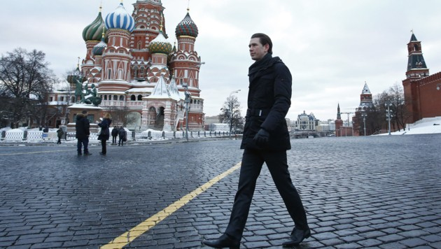 Kanzler Kurz in Moskau (Bild: APA/BMEIA/DRAGAN TATIC)