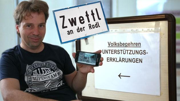 Rainer Lenzenweger und seine Ehefrau wurden von einer Gemeindemitarbeiterin an ihrer Unterschrift gehindert. (Bild: Gantner, APA/Roland Schlager)