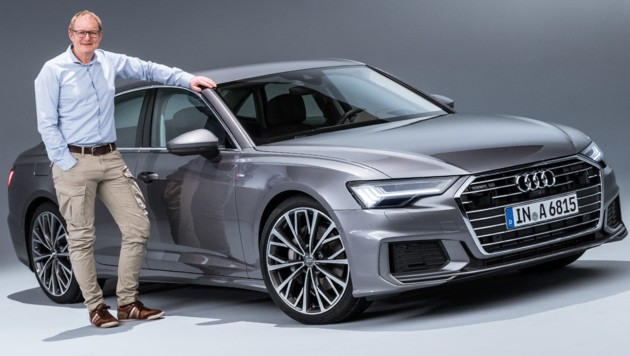 Audi a6 neu mit polizei blaulicht in die matrix for Audi a6 breite mit spiegel