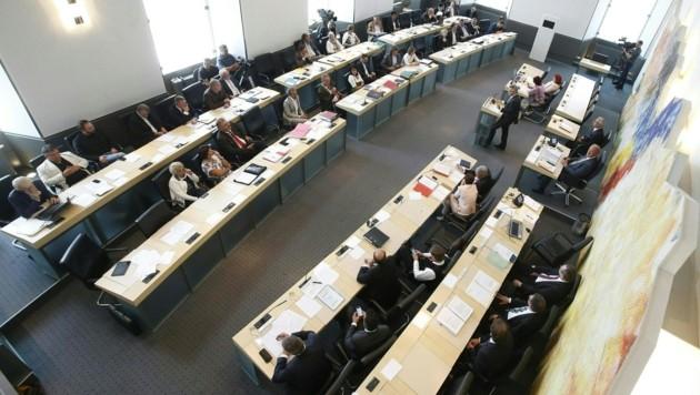 Der Kärntner Landtag (Bild: APA/GERT EGGENBERGER)