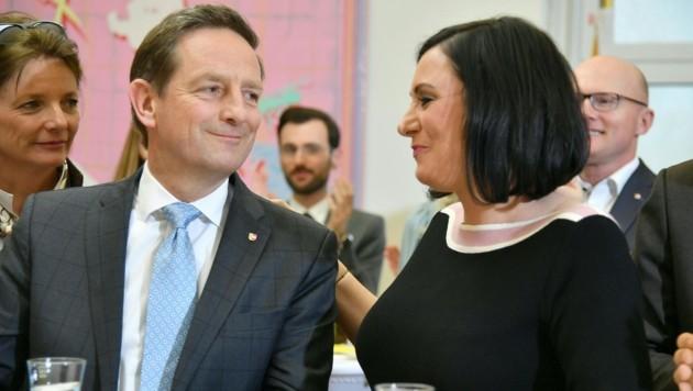 Landwirtschaftsministerin Elisabeth Köstinger mit ÖVP-Spitzenkandidat Christian Benger