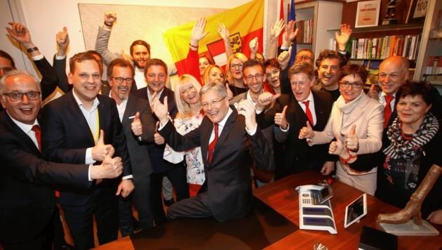 Die SPÖ lässt sich feiern.