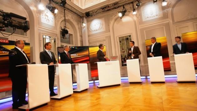 Elefantenrunde mit Moderator Bieche: Holub, Benger, Kaiser, Darmann, Köfer, Unterdorfer (Bild: Rojsek-Wiedergut Uta)