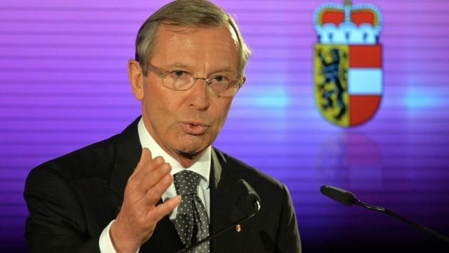Der im Wahlkampf stehende Salzburger Landeshauptmann Haslauer