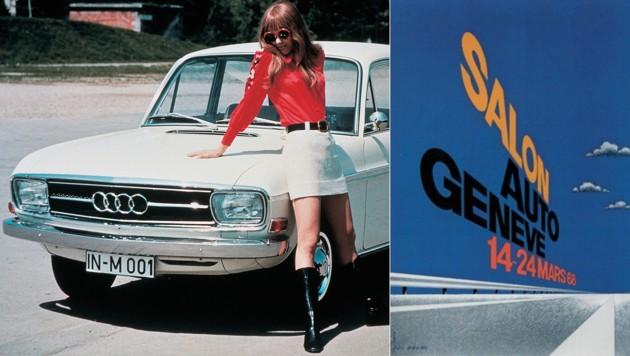 Der Audi 60 zählte zu den Genf-Debütanten. Das Messe-Logo versprach große Freiheit. (Bild: Audi, GIMS)