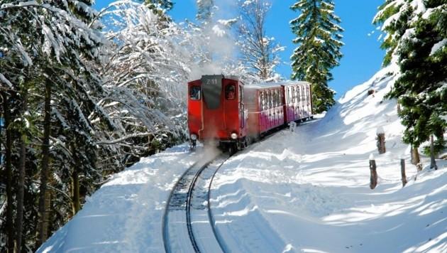 Die Schafbergbahn im Winter (Bild: Schafbergbahn)