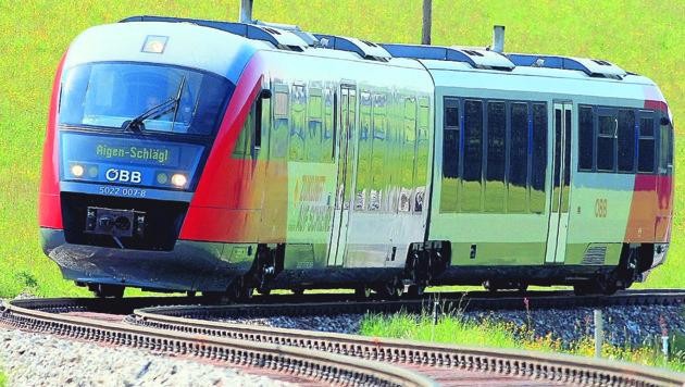 """Ein Zug der Mühlkreisbahn (Bild: """"Krone"""")"""