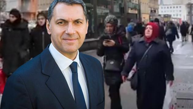 """Ungarns Kanzleramtsminister Janos Lazar warnt mit """"Drohbildern"""" aus Wien vor Einwanderern in Ungarn."""