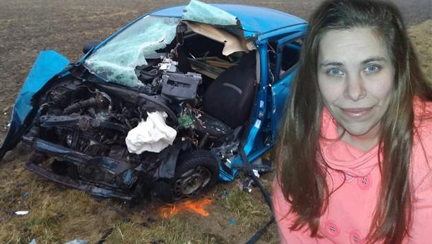 Die junge Mama Diana L. (32) starb Mittwochfrüh im Wrack ihres völlig zerstörten Nissan-Kleinwagens.
