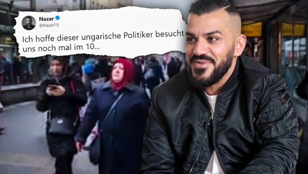 Der österreichische Sänger Nazar stammt aus dem Iran, lebt aber seit seiner Jugend in Wien. (Bild: krone.tv, facebook.com, krone.at-Grafik)