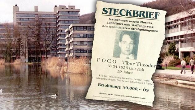 1995 flüchtete Foco bei einem Studienausgang zur Linzer Johannes Kepler Universität aus der Haft.