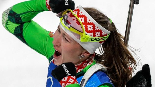 Darya Domracheva (Bild: AP)