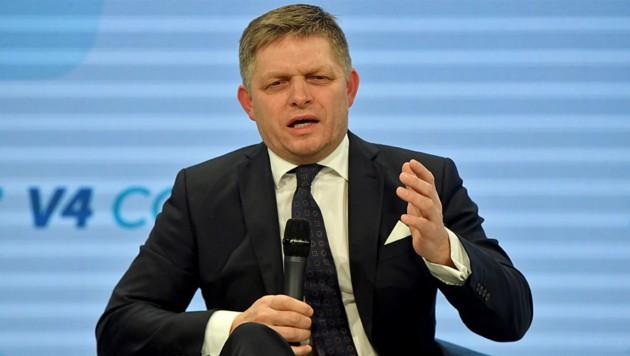 Wird der Journalistenmord letztendlich den slowakischen Regierungschef Robert Fico zu Fall bringen? (Bild: AFP)