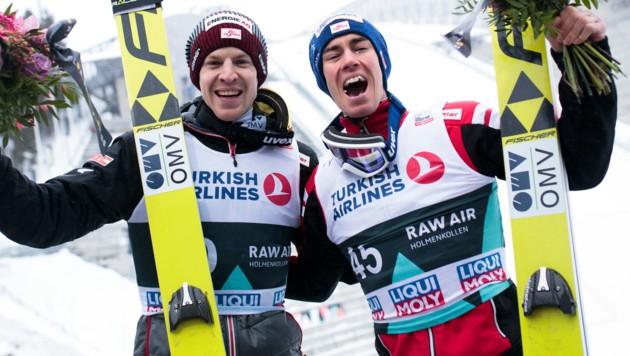 Michael Hayböck und Stefan Kraft (Bild: GEPA)