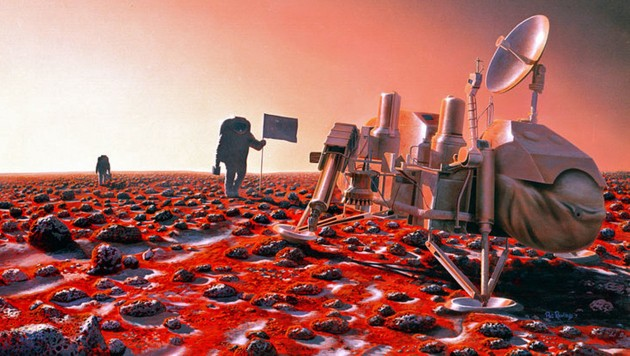 """So könnte man sich die ersten """"Siedler"""" auf dem Mars vorstellen."""