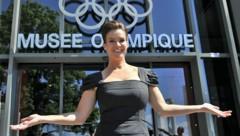 Archivbild aus dem Jahr 2011: Katarina Witt während eines Fototermins anlässlich der Bewerbung Münchens für die Olympischen Winterspiele 2018. (Bild: AFP)