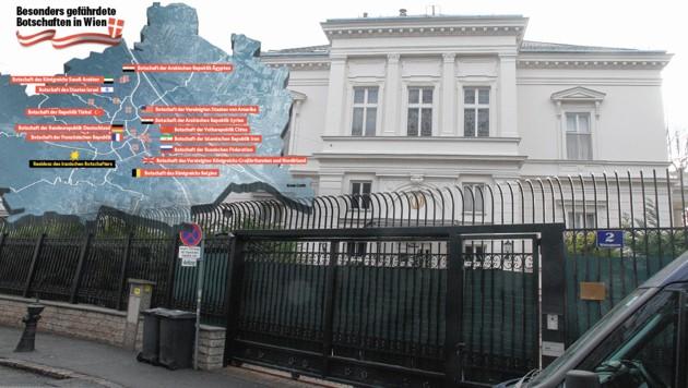Die iranische Botschaft in Wien