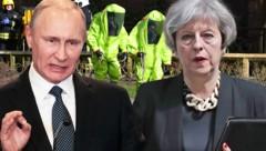 Wladimir Putin, Theresa May (Bild: AP, AFP, krone.at-Grafik)