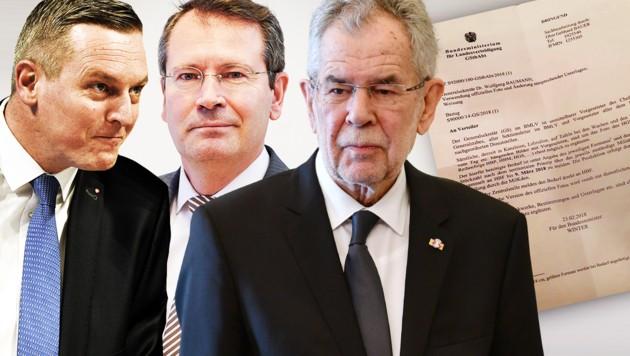 (Bild: APA, Bundesheer/Pusch, twitter.com, krone.at-Grafik)