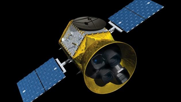 Künstlerlische Illustration des Satelliten TESS
