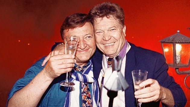 Trainer Otto Baric und Rudi Quehenberger (Bild: Daniel Krug)