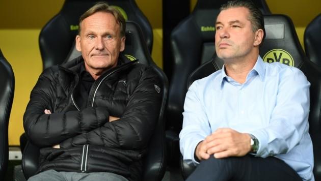Michael Zorc (rechts) und Hans-Joachim Watzke (Bild: AFP)