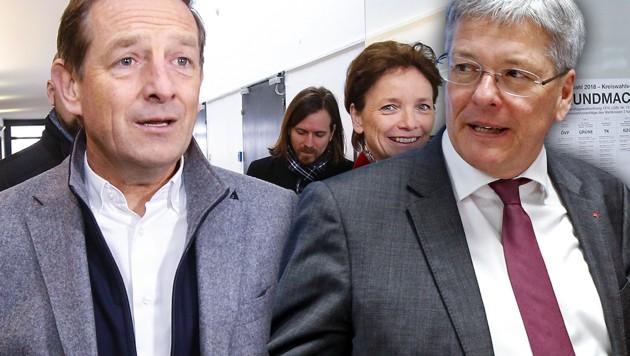 ÖVP-Kärnten-Chef Christian Benger (li.) und SPÖ-Landesparteichef Peter Kaiser