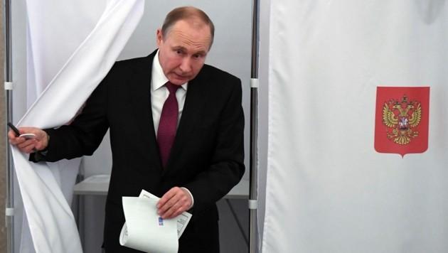 Präsident Putin hat gewählt - vermutlich sich selbst.
