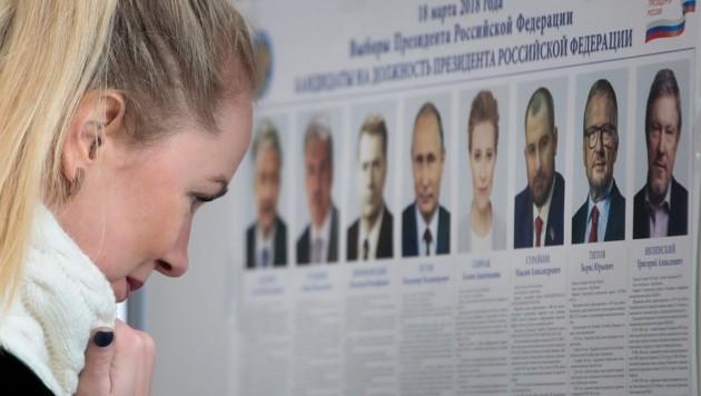 Insgesamt acht Kandidaten stellten sich der Wahl in Russland.