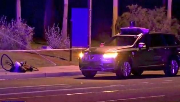 Dieses Roboterauto des Fahrdienst-Vermittlers Uber tötete eine Frau. (Bild: Associated Press)