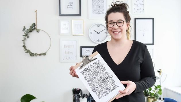"""""""Ich war schon immer ein kreativer Mensch"""", sagt Katrin Hofstadler."""