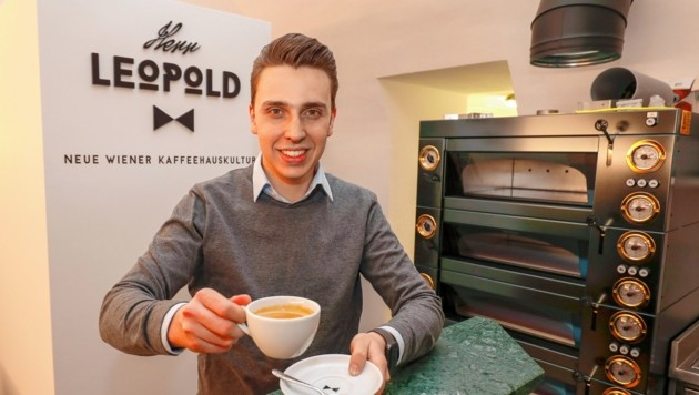 """Justus Holzmann (24), Geschäftsführer von """"Herr Leopold""""."""