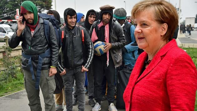 Die deutsche Bundeskanzlerin Angela Merkel will eine ähnliche Krise wie im Jahr 2015 verhindern. Was sie konkret vorhat, stellte sie nun im Rahmen ihrer Regierungserklärung vor. (Bild: AFP, krone.at-Grafik)