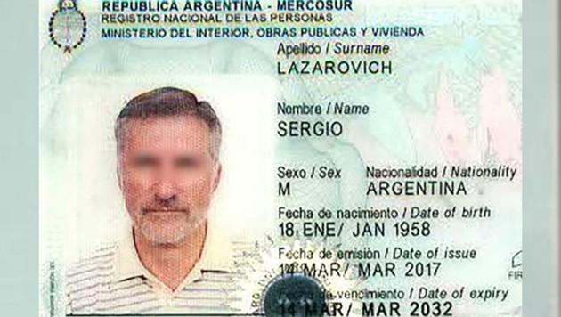 """Der Reisepass des argentinischen Beamten vor der """"Geschlechtsumwandlung"""" (Bild: twitter.com)"""