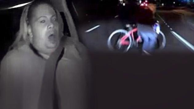 Diese Frau saß als Sicherheitsfahrerin am Steuer eines Uber-Volvos, als dieser eine Fußgängerin zu Tode fuhr. (Bild: twitter.com, krone.at-Grafik)