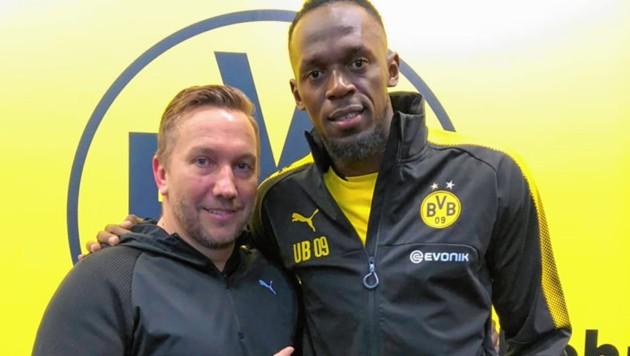 Schmid mit Bolt (Bild: Krone)