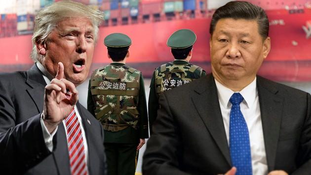 US-Präsident Donald Trump und sein chinesischer Amtskollege Xi Jinping (Bild: AP, krone.at-Grafik)