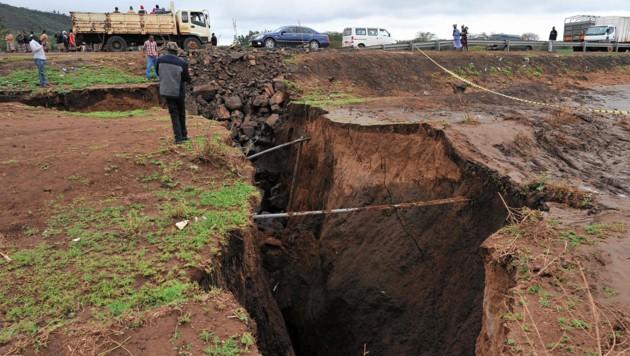 Drei Kilometer langer Erdriss in Kenia entstanden