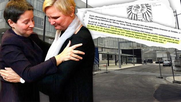 Sonja Wehsely und ihre Nachfolgerin Sandra Frauenberger (re.)
